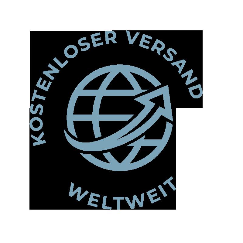 Symbol kostenloser Versand weltweit